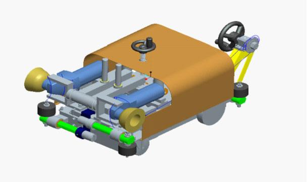 起重机内焊缝打磨小车